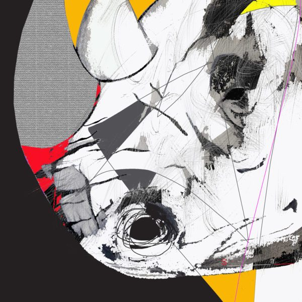 Black Rhino Limited Edition giclée print 24 x 24 in / 61 x 61 cm Edition size: 10 2016
