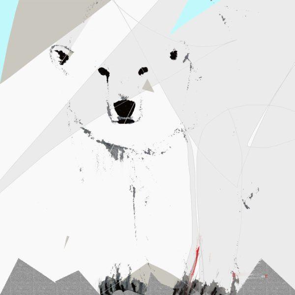 Polar Bear Limited Edition giclée print 24 x 24 in / 61 x 61 cm Edition size: 25 2016